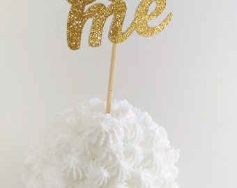 Eat Me Gold Glitter Cupcake Toppers