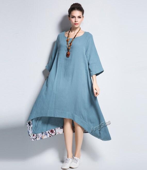 Anysize a line soft cotton dress plus size dress plus by for Soft cotton dress shirts