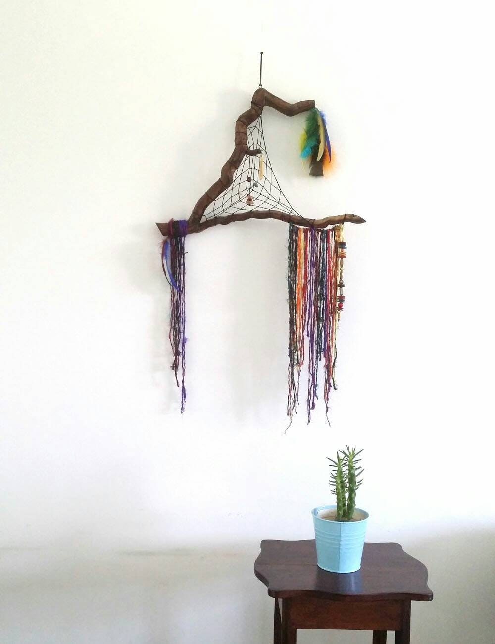 Boho rustic gypsy decor gypsy wall art bohemian decor for Wall hanging