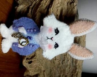 Pin Alice in Wonderland - The White Rabbit Mc Twist and his pocket watch