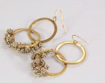 Vintage Vermeil Sterling Silver Drop Earrings