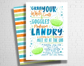 Science Birthday Invitation | Mad Scientist Birthday | Scientist Birthday | Science Party | Science Birthday Theme | DIGITAL INVITE ONLY