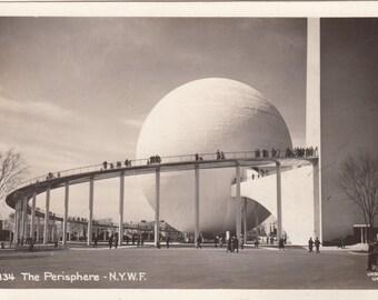 RPPC Photographic Postcard 1939 NY World's Fair The Perisphere,Unused