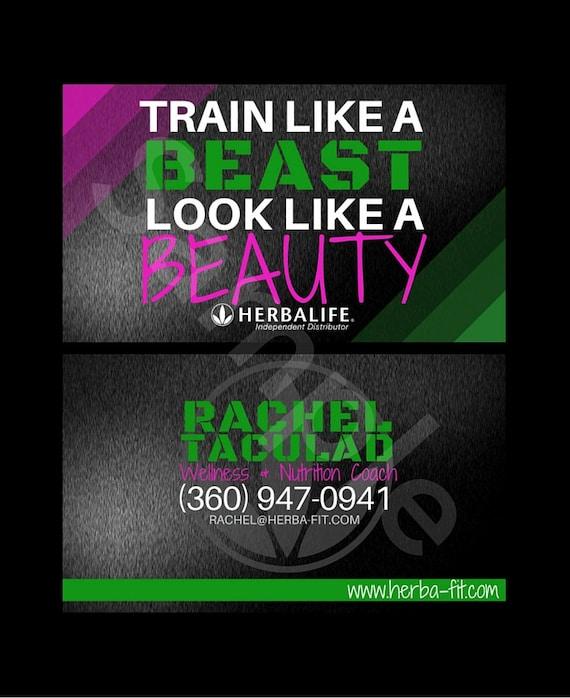 Herbalife Business Card Train Like A Beast by HerbalifeDesigns