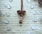Amanita Mushroom - crystal pendant, mushroom pendant, mushroom necklace, clay mushroom, crystal mushroom