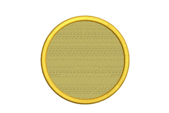 Circle 8 Sizes Filled Machine Embroidery Design Digital