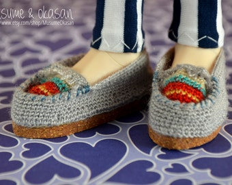 Crochet Moccasins for Minifee A-Line, Withdoll and Slim Mini