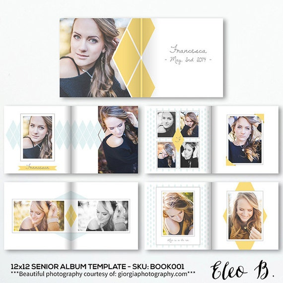 Photo Album Examples: 12x12 Senior Layflat Album Template Photo Album Photo Book