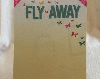 """Butterfly """"Fly Away"""" Dry Erase Board"""