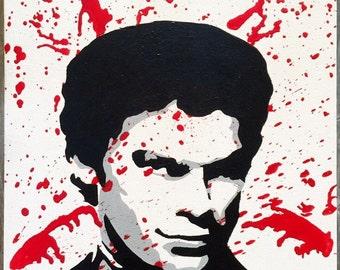 Dexter melted crayon art