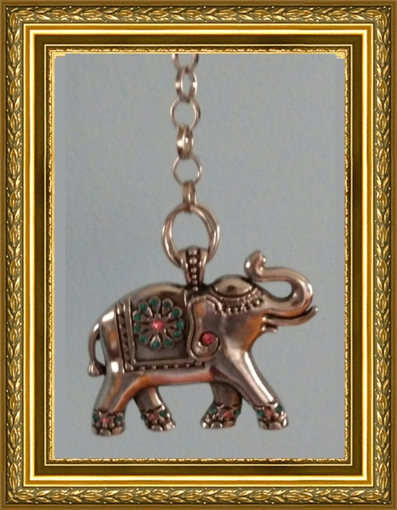 Elephant Ceiling Fan Pull Chain Home Decor Silver Link