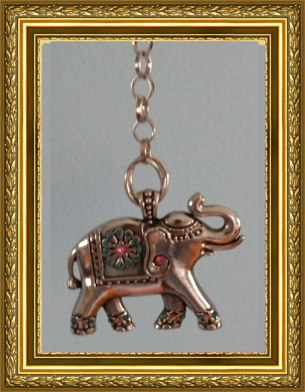 Elephant ceiling fan pull chain home decor silver link chain silver elephant Silver elephant home decor