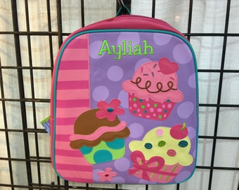 Stephen Joseph Go Go Backpack Cupcake Monogrammed School Backpack
