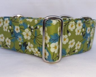 "Liberty of London Martingale Collar - Whippet, and Small to Medium Dog - 1.5"" width - Mitsi"
