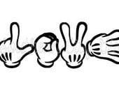 Love Mickey Hands Magic Band Decal
