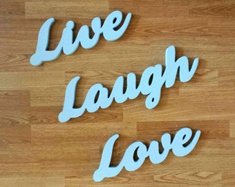 LIVE LAUGH LOVE wall art and home decor