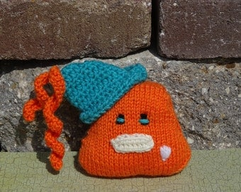 Hand Knit Monster, Halloween Monster, Knitted Toy, Small Toy, Halloween Toy, Plush Toy, Stuffed Monster, Ready to Ship, Pocket Monster
