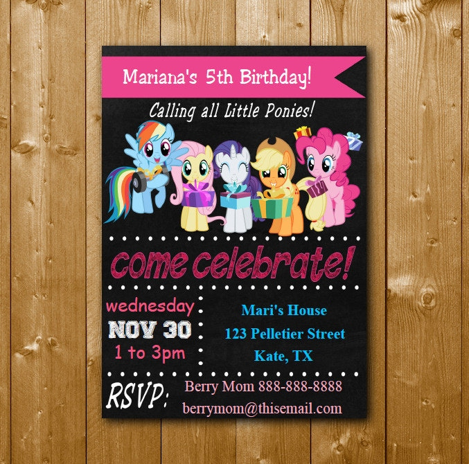 My little pony party funpartysupply my little pony invitation my little pony birthday party invitations personalized for you free thank you note filmwisefo