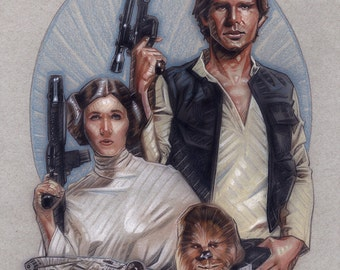 Han, Leia and Chewie