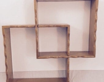 Mid Century 2-Piece Double Curio Shelf