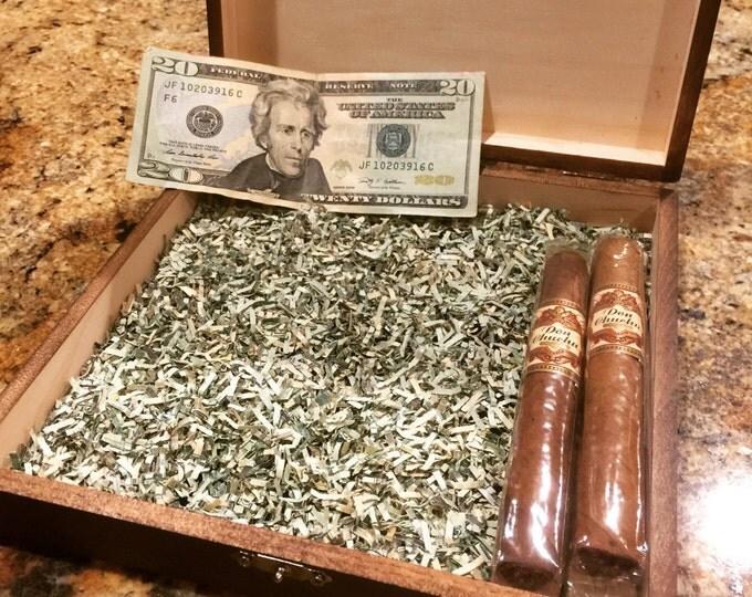Shredded Money - 10 Grams Genuine Real Authentic Paper Money, Cigar Box Filler Option, Crinkle Shred, Crinkle Cut Fill, Gift Box Bag Filler