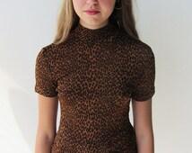 Leopard Print 90s Le Chateau Top