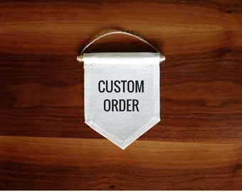 Custom embroidered banner Quote wall hanging Hand lettering Custom name banner Quote Banner custom banner Mini banner Personalized gift