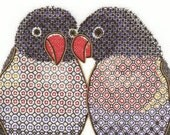 Blackwork Lovebirds Embroidery Kit - Just the Two - of Us Beginners Hand Embroidery Kit