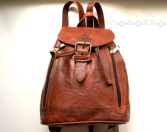 """20%OFF with """"OFF20"""" Leather Backpack. High Quality. Morocco. 8'5x10 inches."""