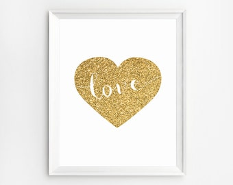 Heart Print, Wall Art Prints, Two Hearts Poster, Nursery Poster, Nursery Wall Art, Prints, Nursery Art, Wall Art, Printable, Heart, Poster