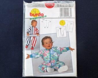 Baby Onesie Uncut Pattern, Burda Express 4483, Size 3 to18 months
