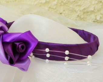 Handcrafted Rose Bud Headband