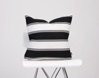 Bold Black Stripe Pillow Cover, Black and White Pillow Cover, Throw Pillow, Decorated Pillow, Home Decor Accent