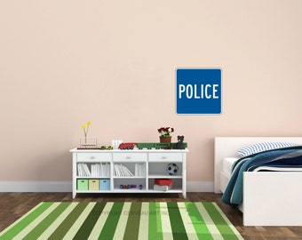 Police Decal - Police Sign - Police Kids - Cop Baby - Police Decor - Police Nursery - Police Art - Police Baby - Police Baby Shower - Cop