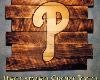 Philadelphia Phillies, FREE UV protector, 30X23, Burnt wall hanging, Shou Sugi Ban, Charred wood, Sports sign, Rustic, Wood Sports sign