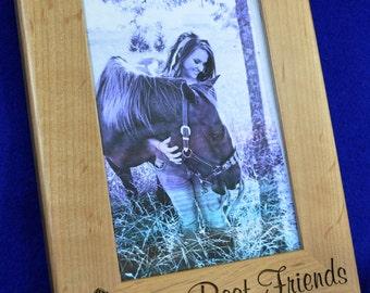 Horse Gift ~ Horse Frame ~ Horses ~ Custom Picture Frame ~ Horse Lover Gift ~ Pet Frame ~ Best Friend Gift ~ Frames ~ Western Frame ~ Pets ~