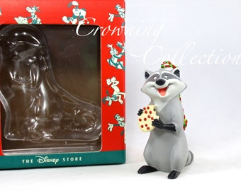 Disney Meeko Pocahontas Ornament Christmas at Our House Raccoon 1995 Vintage Disney Store Exclusive