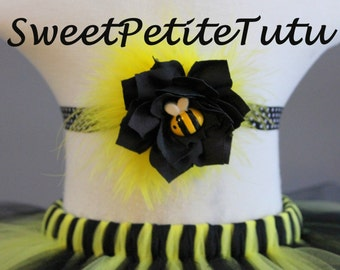 Bumblebee headband, Black and yellow headband, baby headband, Preemie headband, adult headband, newborn headband, bumblebee birthday