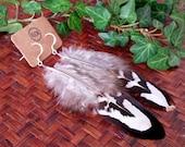 Birds of a feather earrings - Genuine feather earrings