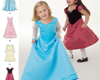 Simplicity 1074 Toddlers and Child's Dress in Two Lengths. Size 4-8. Pattern is new and uncut.