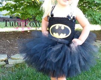 Batman Tutu Dress, Batman Costume, Super hero Tutu Dress, Super Hero Tutu, Super Hero Costume girls, Superhero costume, Batgirl Tutu Dress