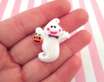 Ghost Cabochons, Cute Halloween Cabochons, #707