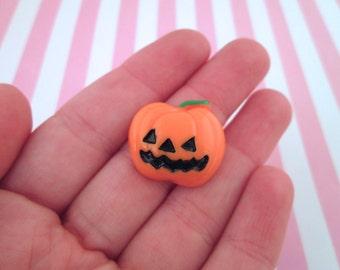 Pumpkin Jack O Lantern Cabochons, Cute Halloween Cabochons, #708