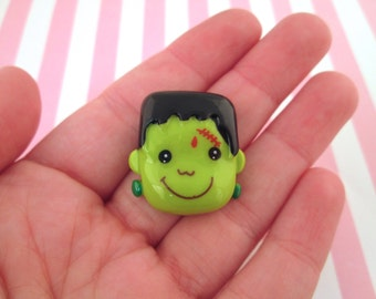 Frankenstein Monster Cabochons, Cute Halloween Cabochons, #716
