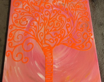 Abstract Tree Painting  14X11