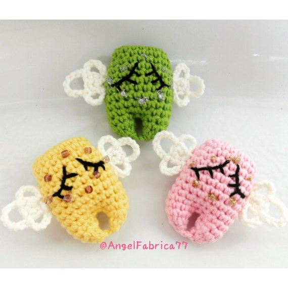 Amigurumi Tooth Fairy : Items similar to Tooth Fairy Angel Bling-Bling with wings ...