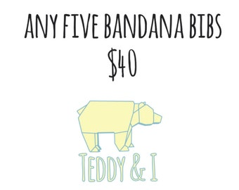 Any Five Bandana Bibs