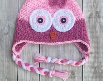 Crochet Owl Hat/ Owl/ Owl hat/Baby/Newborn /Photoprop/Child/Toddler