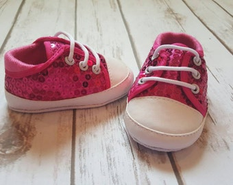 Pink Girls Shoes, Sequins Baby Shoes, Baby Shoes