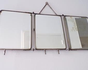 Triptych mirror etsy - Miroir de salle de bain leroy merlin ...
